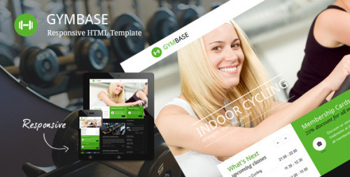 GymBase – Responsive Gym Fitness Template GymBase is a gym fitness HTML template designed in a minimalist style. It has a responsive layout that looks great on mobile and tablet devices. The main point of focus is represented by home page slider which scales down automatically depending on your screen resolution. Template contains blog page with comments, filterable portfolio with details page, responsive timetable page, classes based on accordion page and contact page with map of location and working contact form.