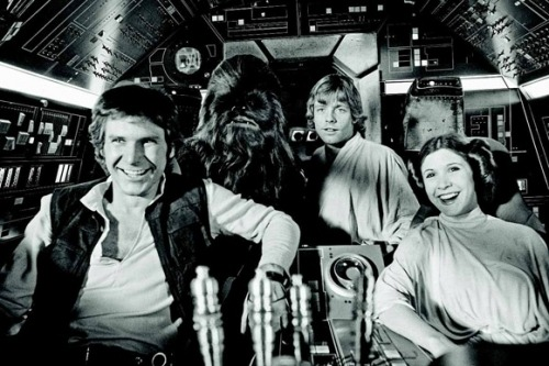 Star Wars: A New Hope B&W. Behind the scenes. :}