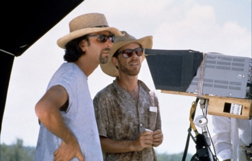 fuckyeahdirectors:  The Coen Brothers on-set of O Brother Where Art Thou? (2000)