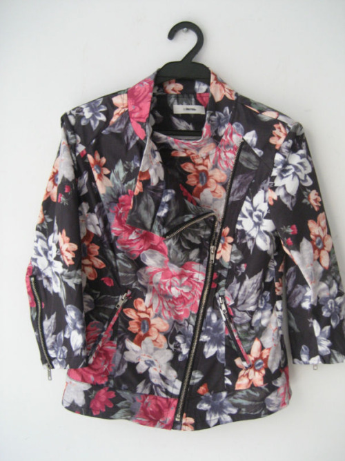 asthetiques:  CELINE - FLORAL STRETCH BIKER JACKET.