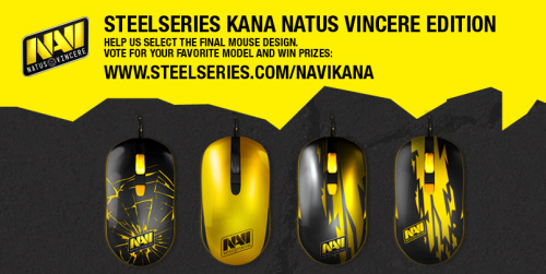 We're putting together a new edition of the SteelSeries Kana mouse, alongside professional gaming team, Natus Vincere - and we're looking to you for input on how this thing should look. :) You're automatically entered to win awesome prizes, by dropping your vote here: www.steelseries.com/kananavi.