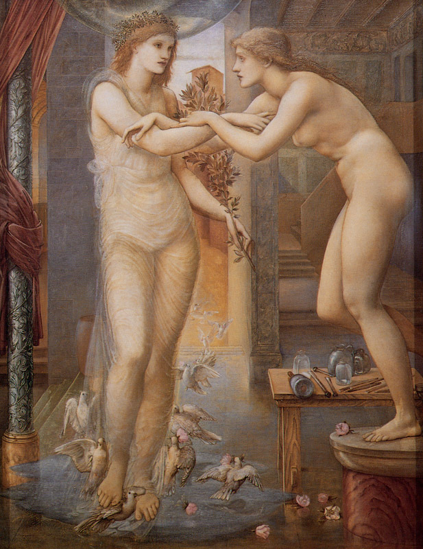 Pygmalion and the image - The Godhead Fires (1878) by Edward Coley Burne-Jones (english painter).