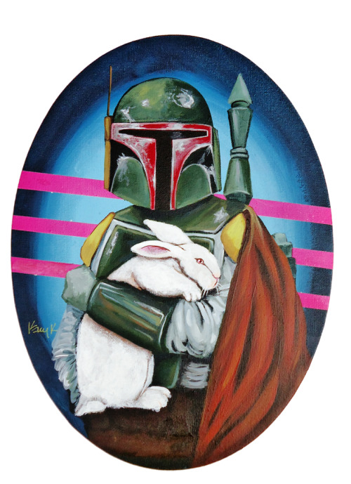 laughingsquid:  Paintings of Star Wars Characters Holding Bunnies & Lambs