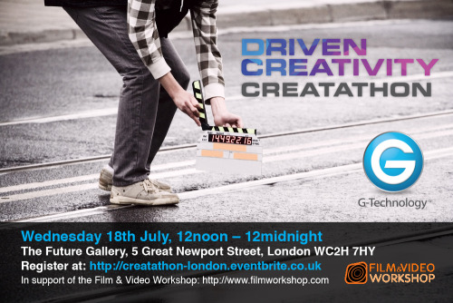 Join us next week for the first ever European Creatathon with creative professionals including: Rupert Murray, Joris de Man, Kipper and Tim Flach. It's a 12hr creative challenge! If you're a photographer, film-maker or musician you are invited. Click here for more details and register now!