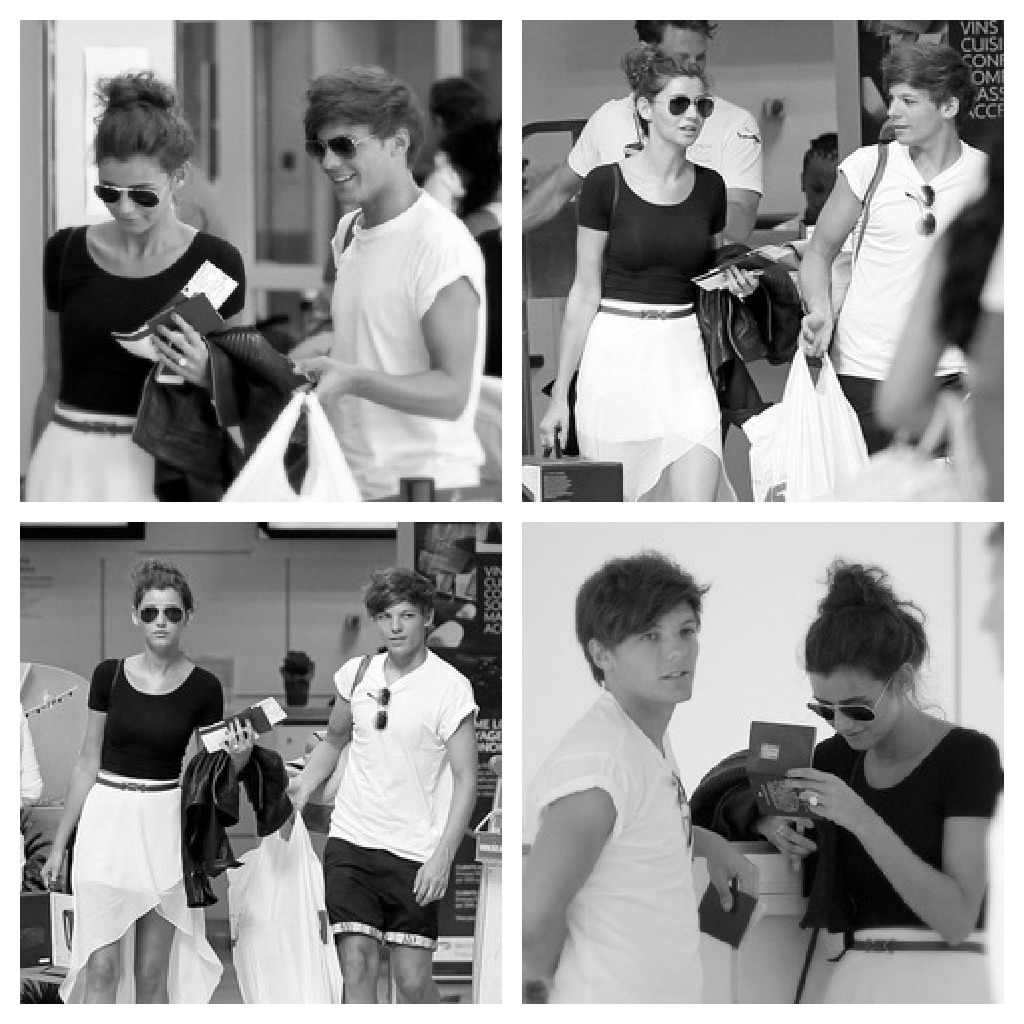 Louis and Eleanor at Nice, France. They're such a cute couple! I want a relationship like that♥