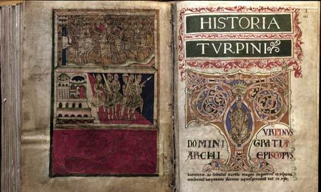 "The Codex Calixtinus—found!  ""A medieval text stolen from the cathedral in the north-western Spanish town of Santiago de Compostela was found in a nearby garage on Wednesday after police arrested a handyman – fired after 25 years working at the cathedral – and three others."" (via Four arrested in Spain over Codex Calixtinus theft 