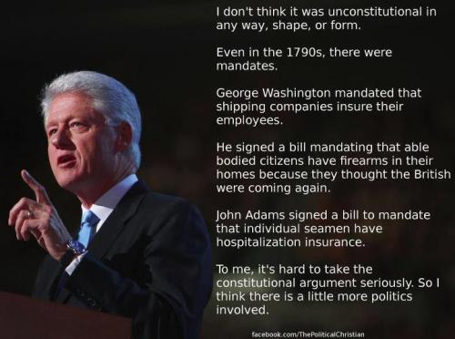 Bill Clinton's thoughts on ObamaCare