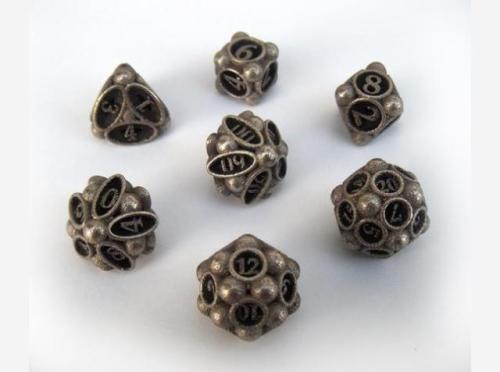 Spore Dice Set with Decader by ceramicwombat on Shapeways