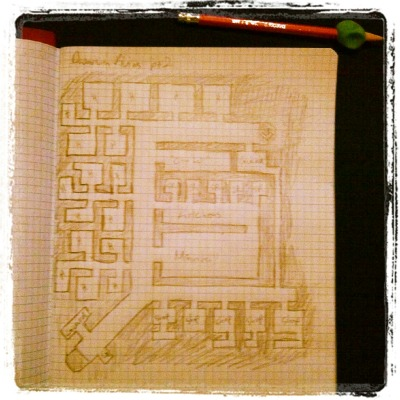 chuck137:  Dwarven city map I made for an upcoming session  Here's what happens when D&D and Dwarf Fortress collide.