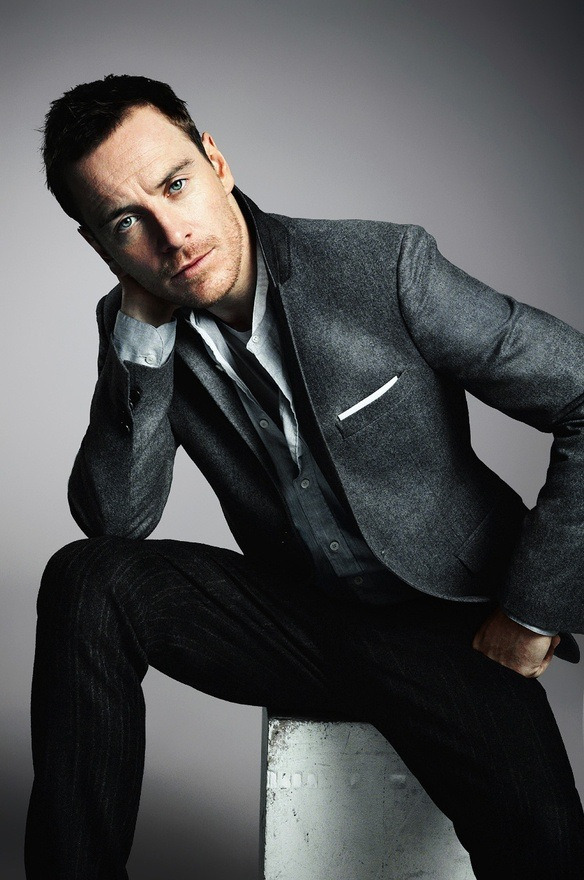 foreignunderground:  Michael Fassbender in awesome grey suit