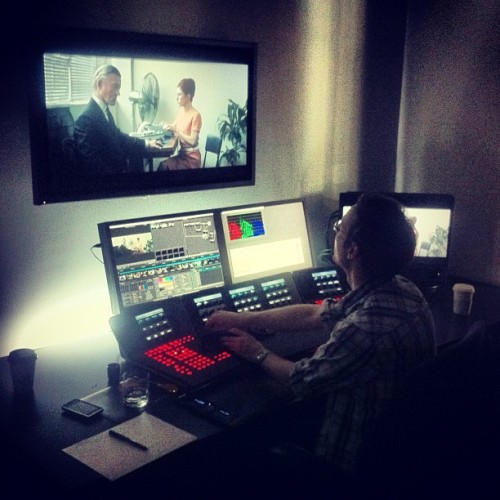 In the grading suite putting final touches to the film (Taken with Instagram)