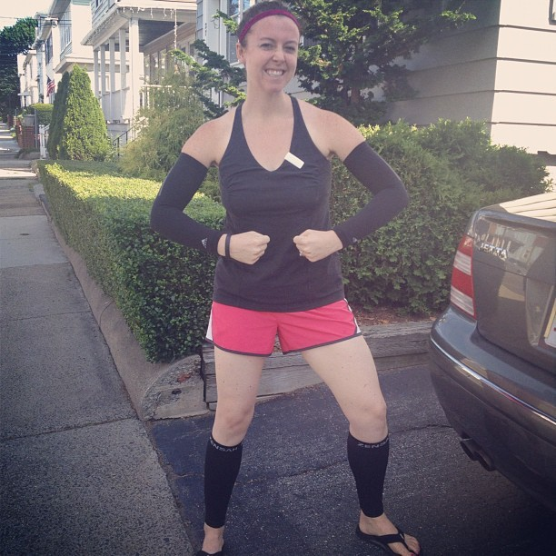 My H-O-T-T post 12-mile run compression attire… @sparklysoulinc @zensah @lululemon (Taken with Instagram)