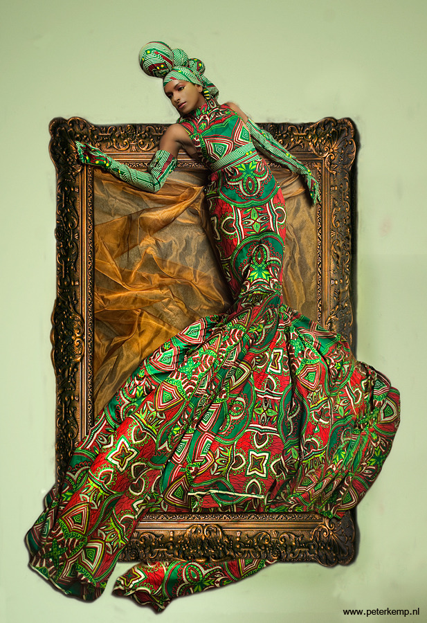 African Beauties by Peter Kemp and Vlisco, premier fabric producer of Ankara.