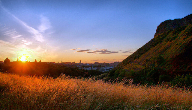 absolutescotland:  Edinburgh sunset HDR by Patrick_Down on Flickr.