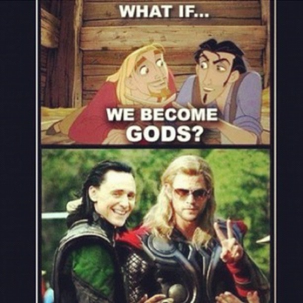 tehtonyism:  It's uncanny! #Avengers #Thor #Loki #ElDorado (Taken with Instagram)