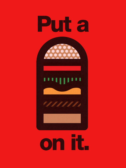 """Put a Burger on it!"" Voting at Threadless Purchase a Print"