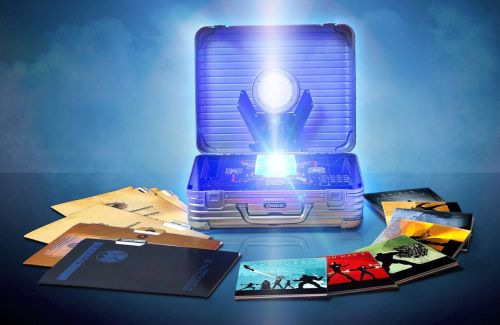 "The limited-edition 10-disc Marvel Cinematic Universe: Phase One Collection.  YOU GET • Marvel's The Avengers (Blu-ray 3D and Blu-ray) • Captain America: The First Avenger (Blu-ray 3D and Blu-ray) • Thor (Blu-ray 3D and Blu-ray) • Iron Man 2 (Blu-ray) • The Incredible Hulk (Blu-ray) • Iron Man (Blu-ray) • Bonus Disc - ""The Phase One Archives"" (Blu-ray) • Glowing Tesseract contained in Nick Fury's iconic briefcase & other memorabilia from the Marvel Cinematic Universe. The box set will be hitting store shelves the same day as The Avengers Blu-ray on September 25th."