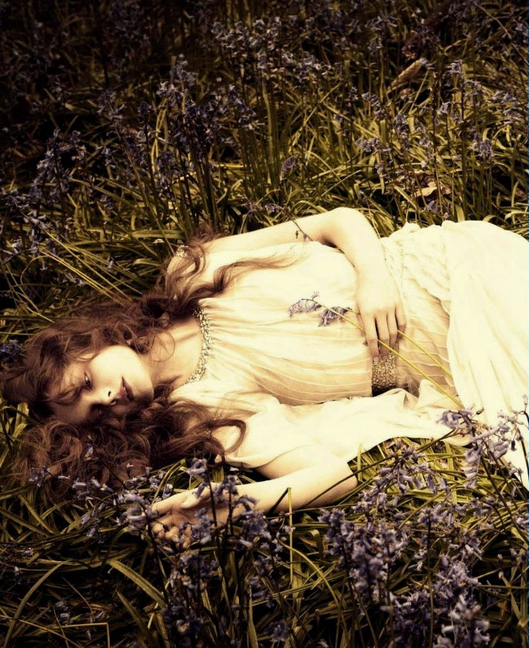 Eniko Mihalik by Ellen von Unwerth for Vogue Italia July 2012