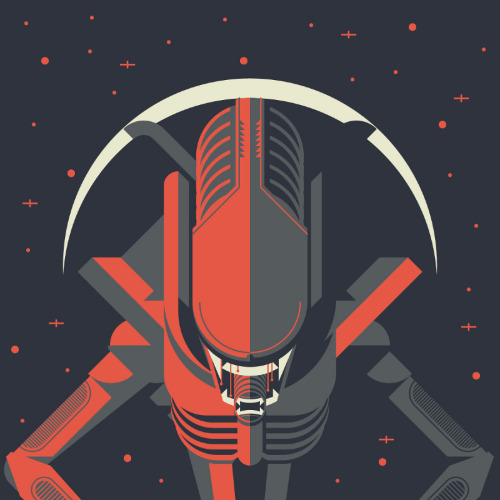 Xenomorph Created by Justin Mezzell Website || Tumblr || Dribbble