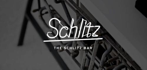 Image of the Day: Bureau Rabensteiner designed this identity for The Schlitz Bar (info forthcoming). The logo is based on the neon lettering for the bar, rather than the other way around. More at their Facebook page.