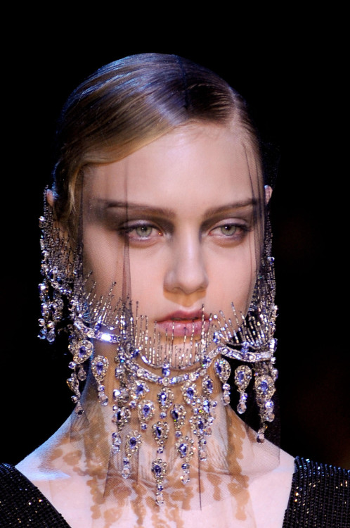 Nastya Kusakina at Armani Prive Haute Couture F/W 2012
