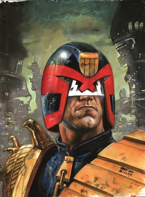 Judge Dredd by Glenn Fabry and Simon Bisley. (Source)