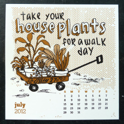 July 27th is Take Your Houseplants for a Walk Day! Whatever way you choose to do this, get your plants outside and for a little trip around the block. I got some lovely new little plants from Skinny Skinny in Williamsburg, Brooklyn. I made a treasury on Etsy of other plant based goodies - check it out!
