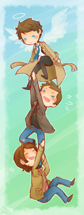 life-writer:  I just wanna draw them all happy forever ;w; Supernatural is slowly ruining my life. In the best way possible. Be prepared, I've been drawing a lot of fanart lately Oh and I've also become very Destiel :'D