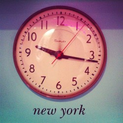 clock wall. (Taken with Instagram at kate spade new york)