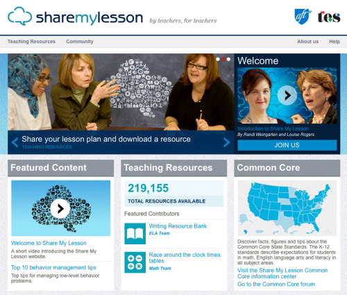 world-shaker:  Share My Lesson: A site by teachers and for teachers Share and download lessons and teaching tools for free