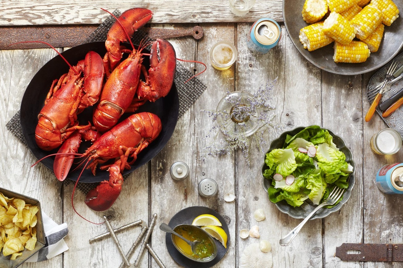 new work. lobster feast. food stylist: chelsea zimmer, prop stylist: paola andrea