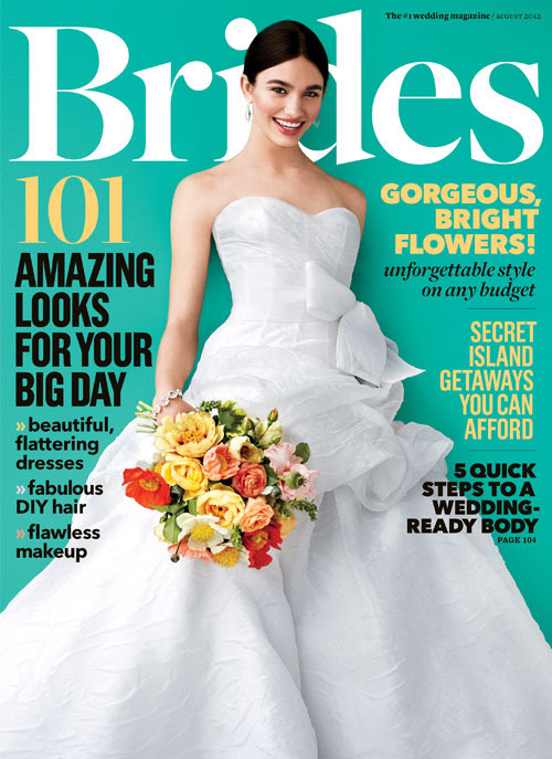 Here's my cousin on the cover of Brides, from the shoot I posted about in May.
