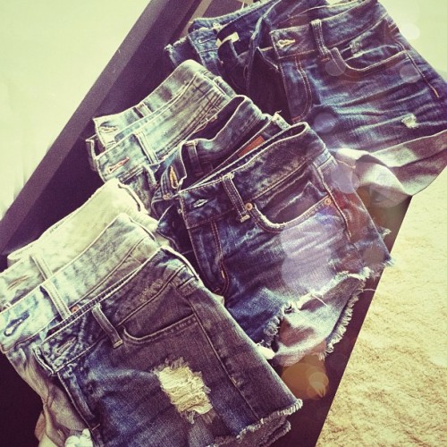 I have a slight obsession w/denim shorts. #summer #denim (Taken with Instagram)