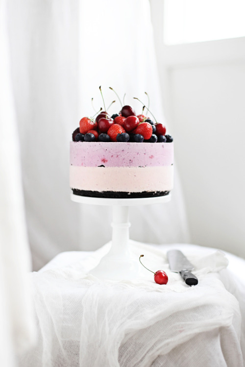 No-bake berry cheesecake (by Call me cupcake)
