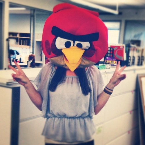 Happenings at the office: our lovely Junior Designer, Kelly, goes Angry Birds!