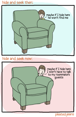 pleatedjeans:  hide and seek: then and now
