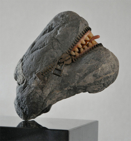Mouth Carved into Stone by Hirotishi Ito