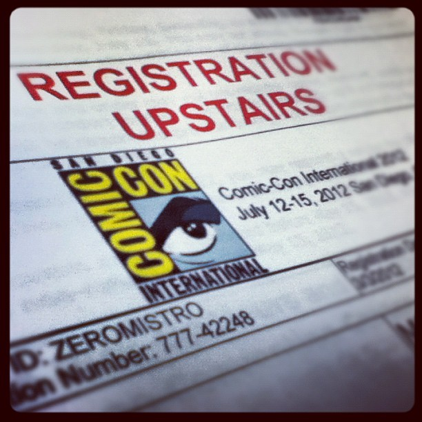 Ready for comic con this weekend!! #comiccon2012  (Taken with Instagram)