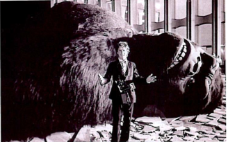 Vanderbilt heir Whitney Tower Jr. poses on the set of King Kong at the World Trade Center in 1976. Photo courtesy of Whitney Tower Jr. in Town & Country August 2012.