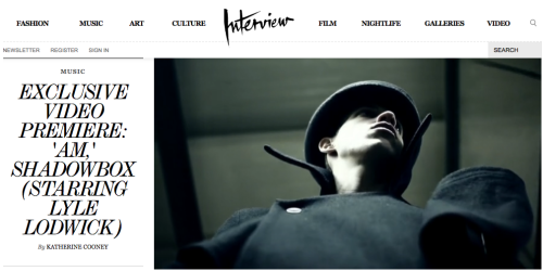 "steamclam:  Shadowbox ""AM"" on Interview Mag or direct link HERE"