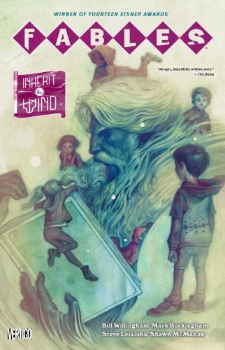 Fables Vol. 17: Inherit the Wind  Bill Willingham  Continuing the ever-expanding story of Fables, Willingham introduces some new characters in this 17th volume. The tale remains split between Rose Red, The Wolf Clan, and the rebuilding of Fabletown, so there's lots of tension and twists and turns in the plot. New to the series? Check out the deluxe, hardcover version from the KPL.