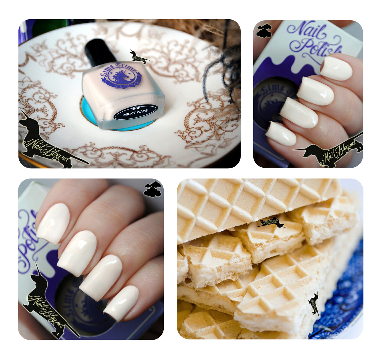 Wafery off-white nail polish by Lime Crime appropriately called Milky Ways. :)