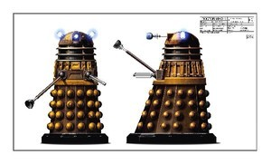 (via Dr Who Department Six Dalek Artwork | eBay)