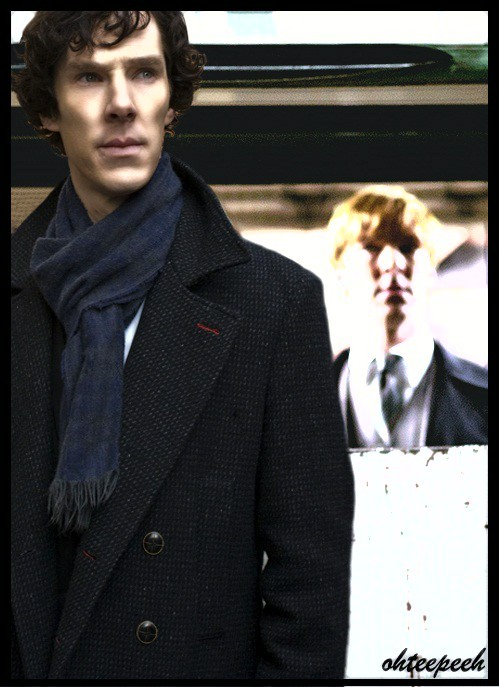 "Sherlock didn´t need to turn around to know who was standing behind the doors. "" I was waiting for you"" ""So was I """