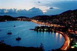 Charlotte Amalie at night (St. Thomas, USVI)