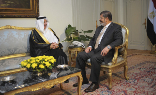 Hosting Morsi's First Foreign Trip Is a Coup for Saudi Arabia   So why does currying favor with the new Egypt matter so much to the Islamic Republic? And in choosing to prioritize a visit to the Saudi Kingdom, has President Morsi delivered a snub to Iran? Or has he merely embraced the reality that consolidating his tenuous grip on power requires influential supporters?  Read on: http://almon.co/1kq
