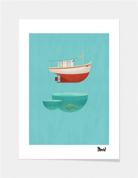 "curioos-arts:  ""Floating Boat"" by Erdavid [Buy]"