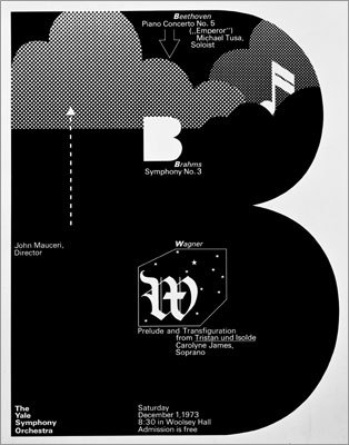 [Image: The Yale Symphony Orchestra Poster, 1972 by Dan Friedman]