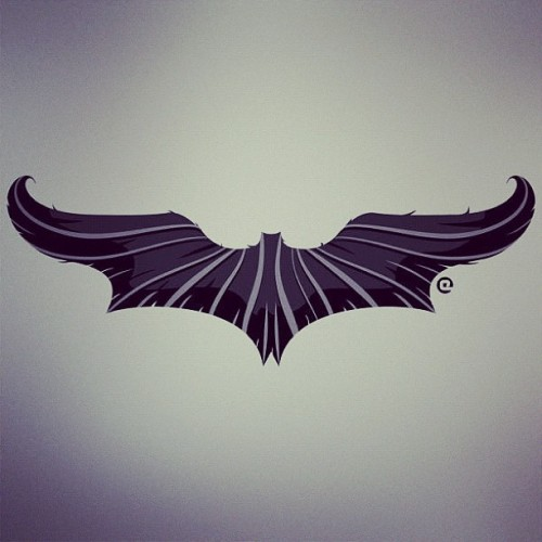 "eozenart:  Save Gotham like a sir. ""The Bat-Stache"" clothing and stickers by Eozen on RedBubble"