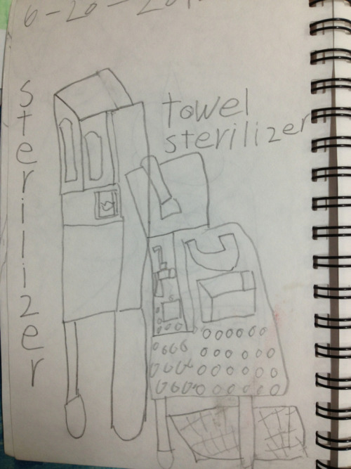 From Ka Wai's sketchbook: towel sterilizer